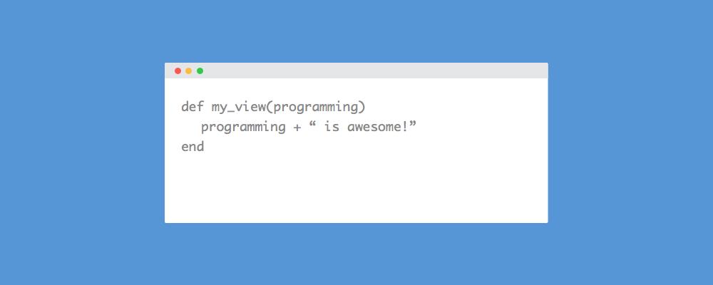My view programming